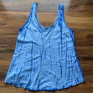Wound up tie dyed tank top S